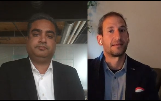 Screenshot of Rishi Grover and Ramy Nassar presenting during Vena Nation 2020.