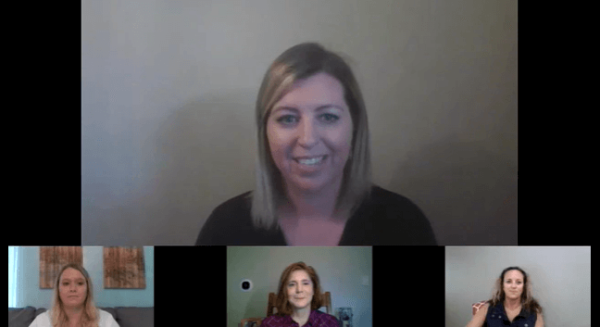 Screenshot from a Vena Nation 2020 presentation featuring Meg Bowie, Andrea Williams, Christine Sawyer and Holly Snyder.