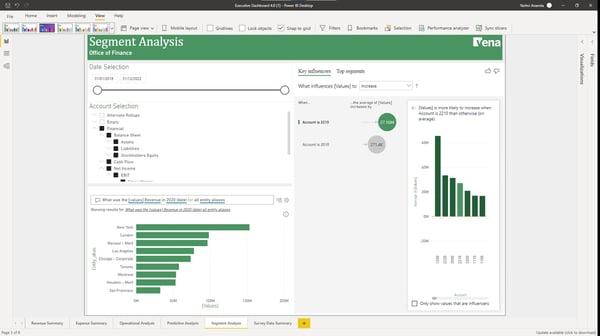 Power BI dashboard - Segment Analysis