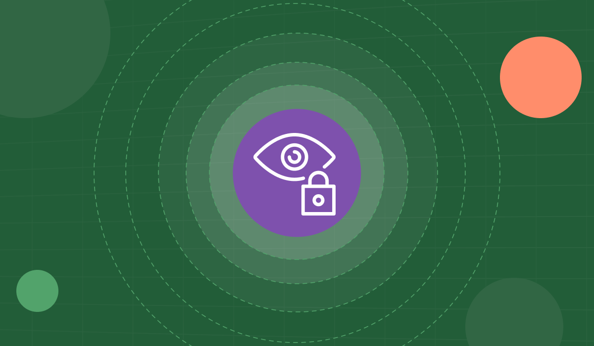 A Vena graphic with an eye and lock icon in the center.