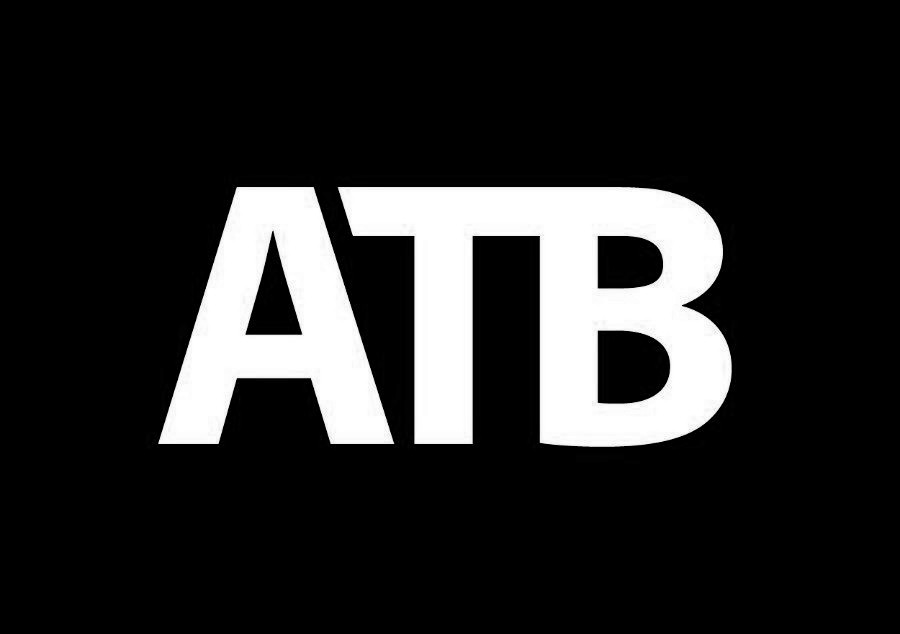 Black ATB Financial logo